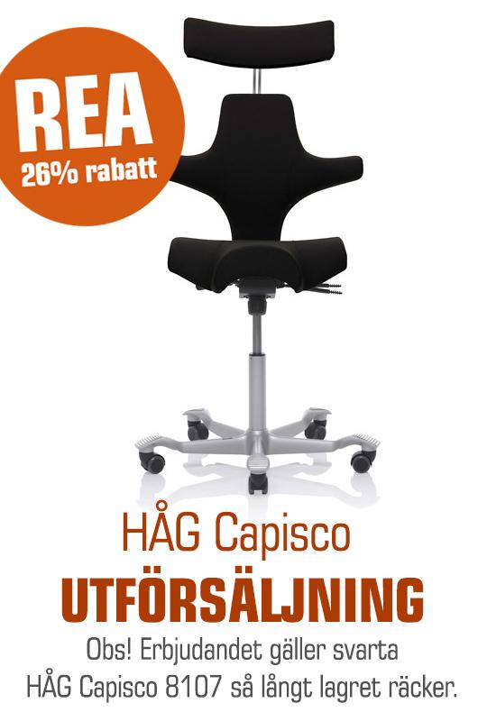 Utförsäljning av svarta HÅG Capisco REA