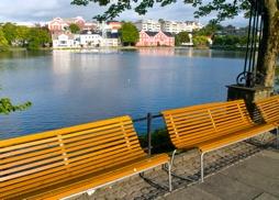 Benker i parken. Foto: Coluorbox