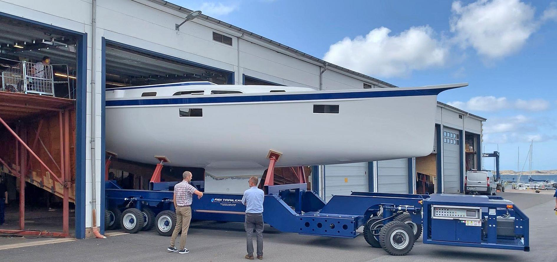 Pre-premiere in production for the all-new Hallberg-Rassy 40C
