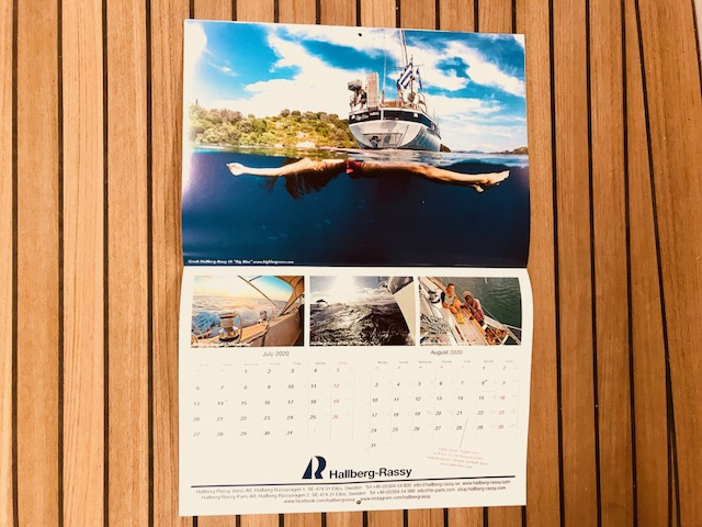 The Hallberg-Rassy Calendar 2020