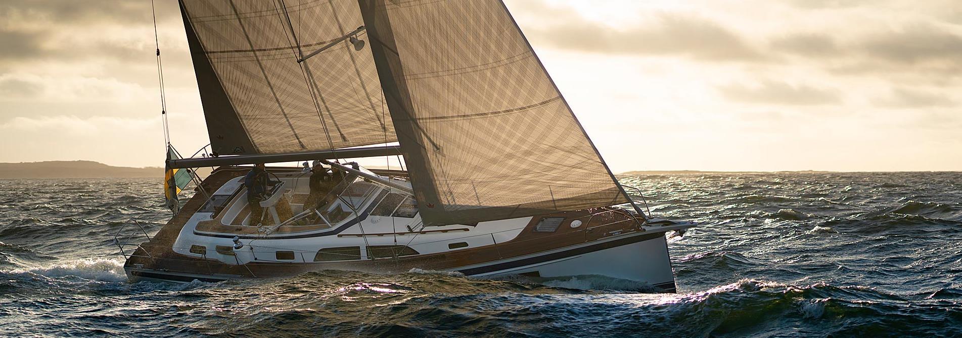 Sailing photos of the all-new Hallberg-Rassy 40C