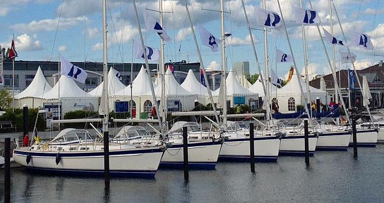 Hallberg-Rassy 310, 340, 372, 44 and 48 Mk II at Hanseboot Ancora Boat Show in Neustadt 25-27 May