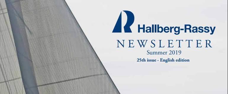 The traditional Hallberg-Rassy NewsLetter 2019
