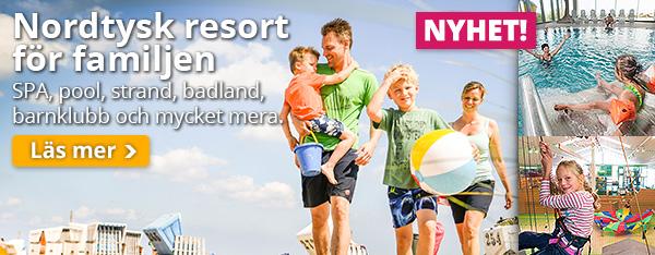 Nordtysk familjeresort: Barnklubb, SPA, pool och mycket mera