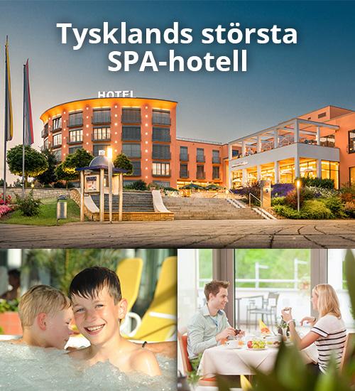 Hotell med stort badland och wellness i Tyskland