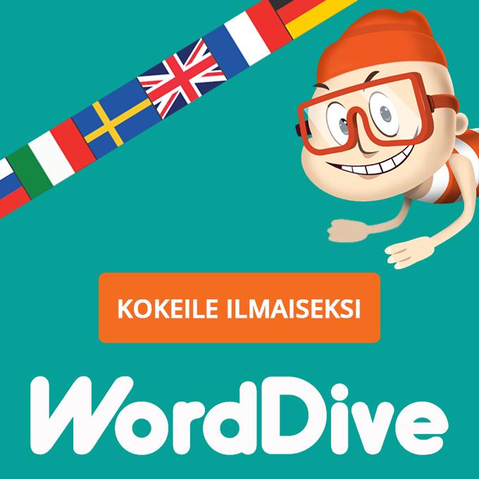 WordDive – hauskaa ja tehokasta kielten opiskelua!