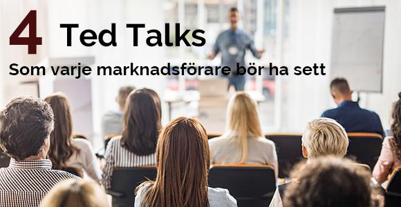 4 TED Talks som varje marknadsförare bör ha sett