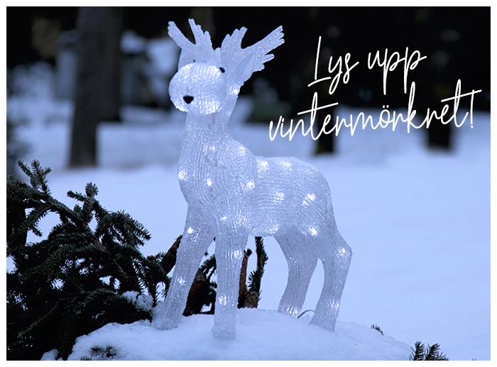Shoppa hem utebelysning som lyser upp i vintermörkret.