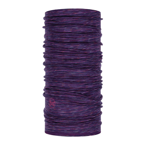 Buff Lightweight Merino wool Purple Multi Stripes