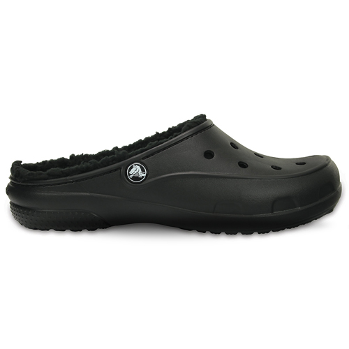 Crocs Freesail Plush Fuzz Lined Clog Black