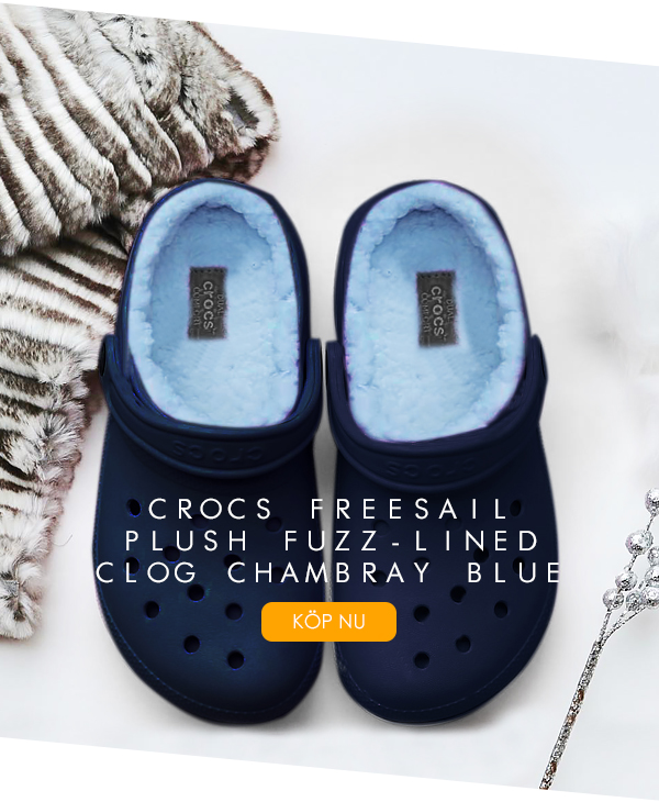 Crocs Freesail Fuzz Lined Clog Navy Chambray Blue