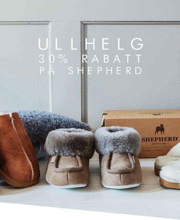 Ullhelg - 30% rabatt på tofflor från Shepherd