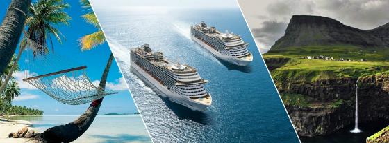 Se sommerens cruise i Middelhavet