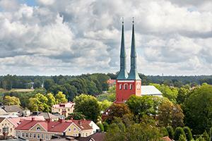 Vy över Växjö inkl. domkyrkan
