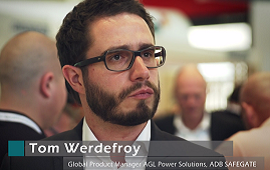 Tom Werdefroy about ADB SAFEGATE´s latest AGL power solution