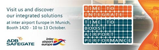 Visit ADB SAFEGATE at inter airport Europe in Munich 2017