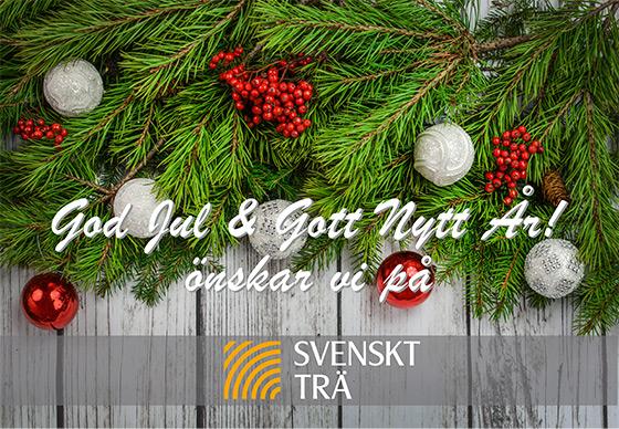 God Jul & Gott Nytt År! önskar vi på Svenskt Trä