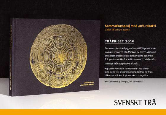 Sommarkampanj på Träpriset 2016 med 40% rabatt!