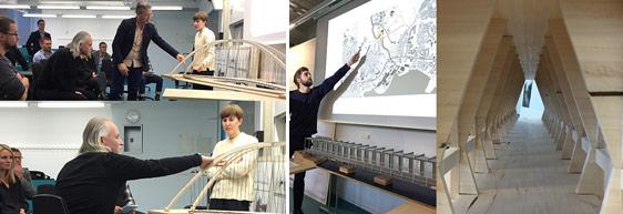 Imponerande bromodeller av arkitekturstudenter vid KTH