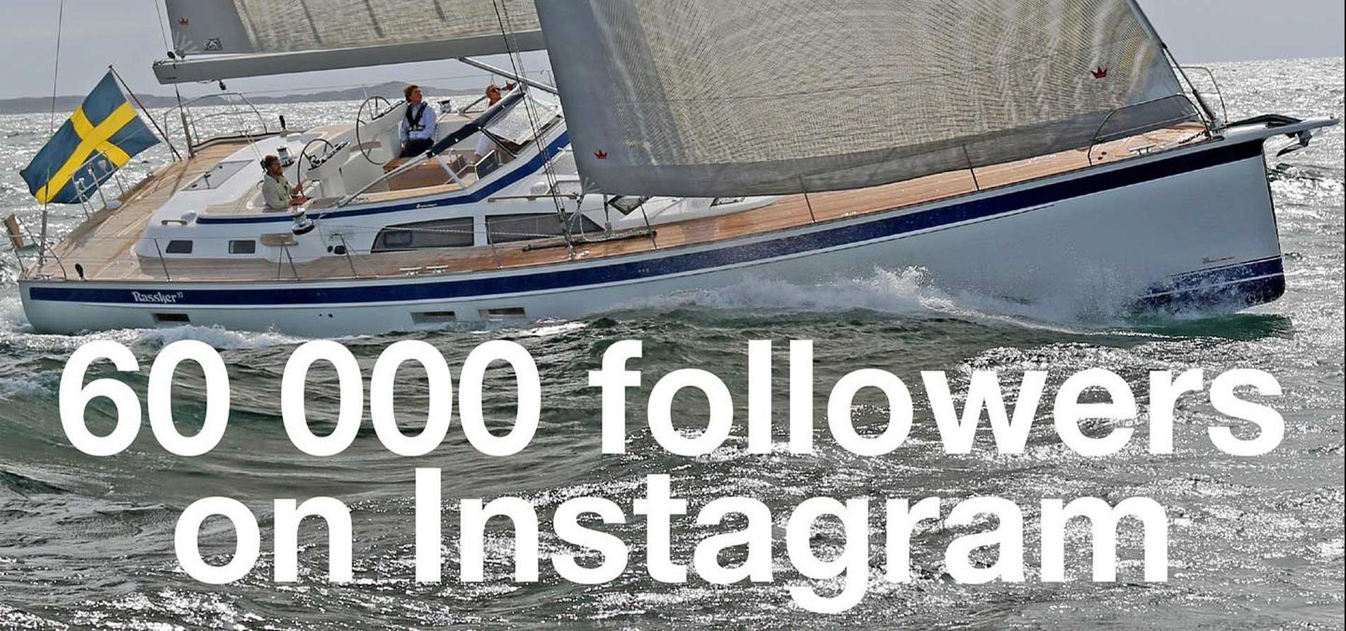 Hallberg-Rassy now has over 62 000 followers on Instagram